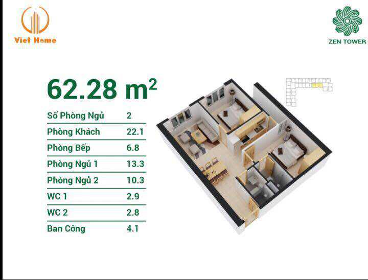 căn hộ zen tower 13